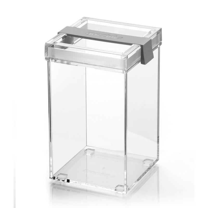 Barattolo da cucina Guzzini trasparente grigio click&Fresh My KitChen 1150cc