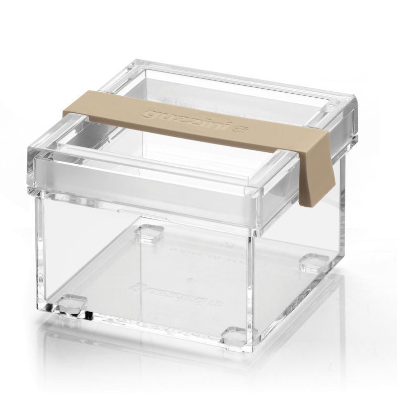 Barattolo da cucina Guzzini trasparente sabbia click&Fresh My KitChen 370cc