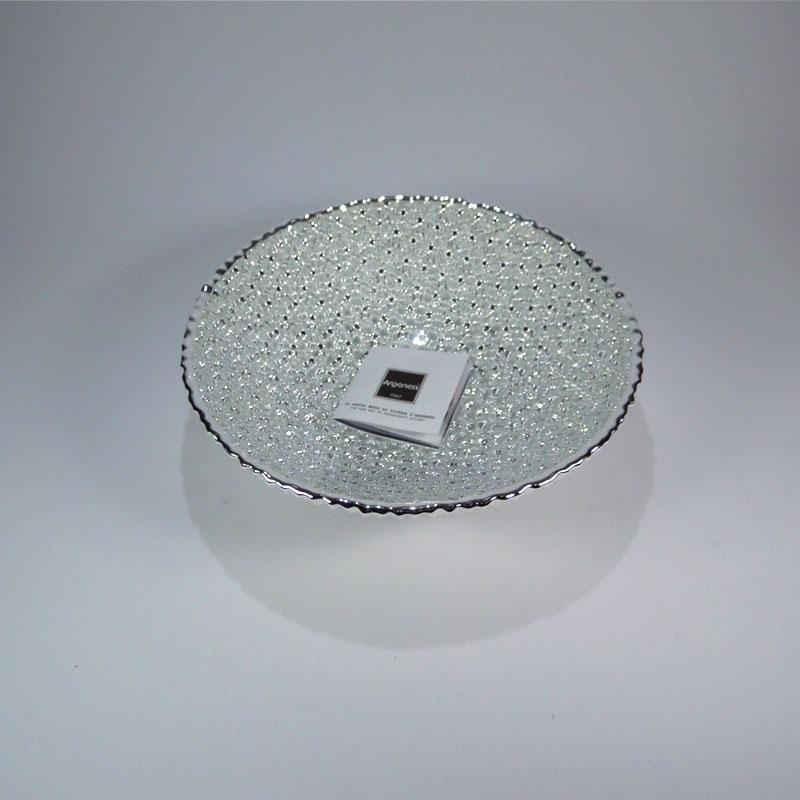 Oggettistica arredo casa moderna centrotavola argenesi ciotola linea diamante cm20 argento - Oggettistica per la casa moderna ...
