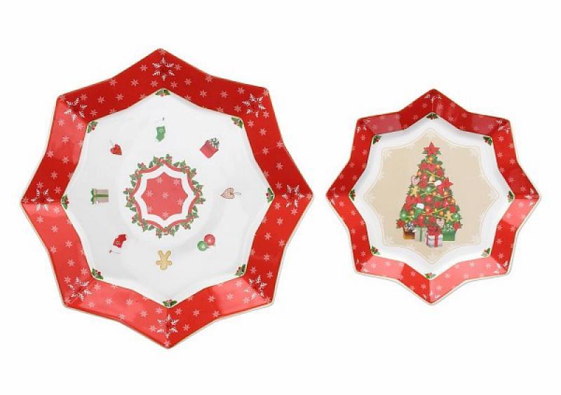 Piatti Per Natale 2019.Piatti Natalizi A Stella Set 2 Pezzi Tognana Cristmas Wonderlan