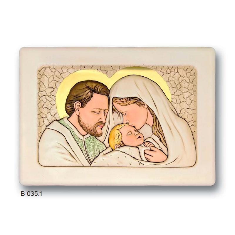 Quadri e icone sacre ceramica shan quadro sacra famiglia for Quadri sacra famiglia moderni prezzi